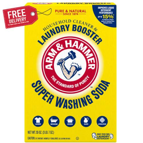 Arm & Hammer Super Washing Soda Detergent Booster & Household Cleaner, 55oz.