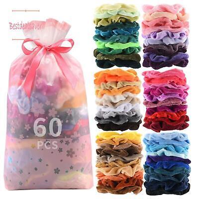 60 pcs premium velvet hair scrunchies hair