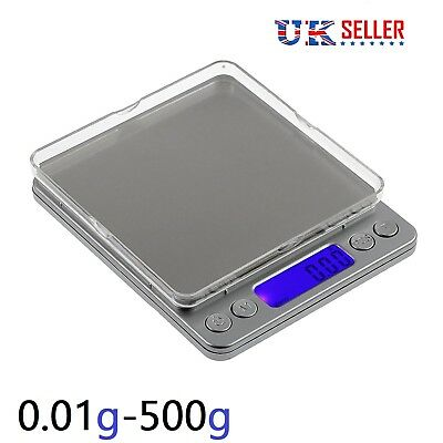 Electronic Digital Kitchen Scale LCD 0.01g-500g Food Diet Weighing Baking Scales