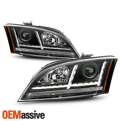 [HID/Xenon] For 08-14 Audi TT [Sequential Signal] Projector LED Black Headlights