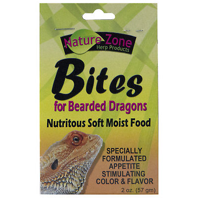 (Nature Zone Juvenile Bearded Dragon Bites Nutritious Soft Moist Pet Food 2 oz)