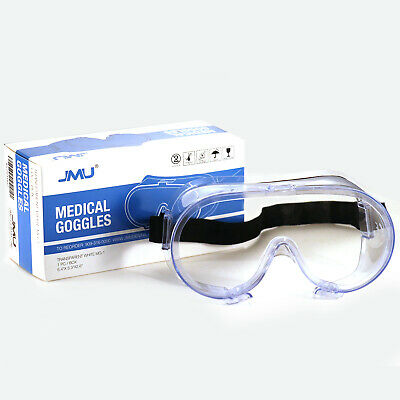 Us Safety Goggles Over Glasses Lab Work Eye Protective Eyewear Clear Lens