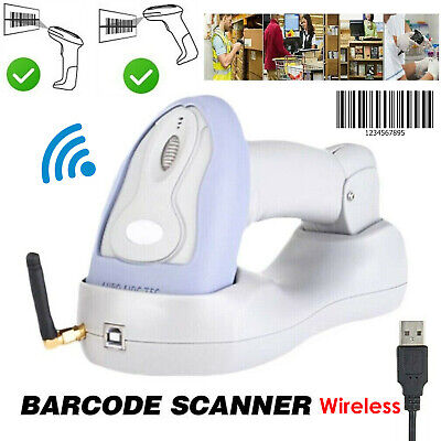 2.4g Usb Handheld Wireless Laser Cordless Barcode Scanner Scan Gun Reader Us