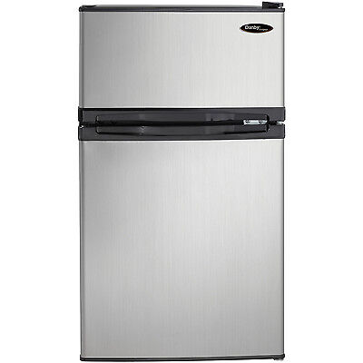 3.1 cu. ft. Compact Refrigerator With Freezer RV Camper Apt. Size Fridge Beer