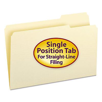 Smead File Folders 13 Cut Third Position One-ply Top Tab Legal Manila 100box