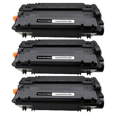 3PK CE255A 55A Toner Cartridge for HP LaserJet Enterprise flow MFP M525c P3010