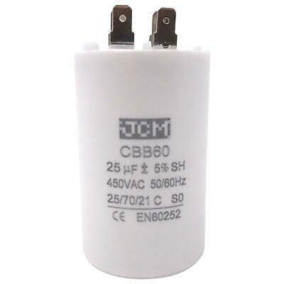 Run Capacitor 25 MFD uF  370v vac volts round Electric AC Motor 25 uf
