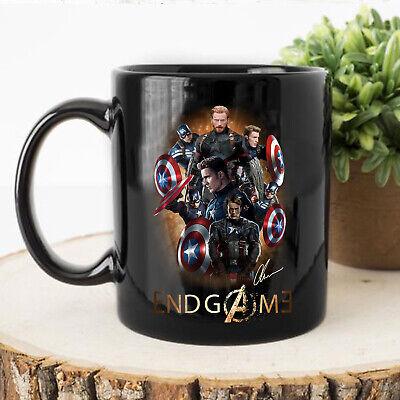 Captain Mug (Captain America Avengers Endgame Chris Evans Signature Black 11oz Coffee Tea)