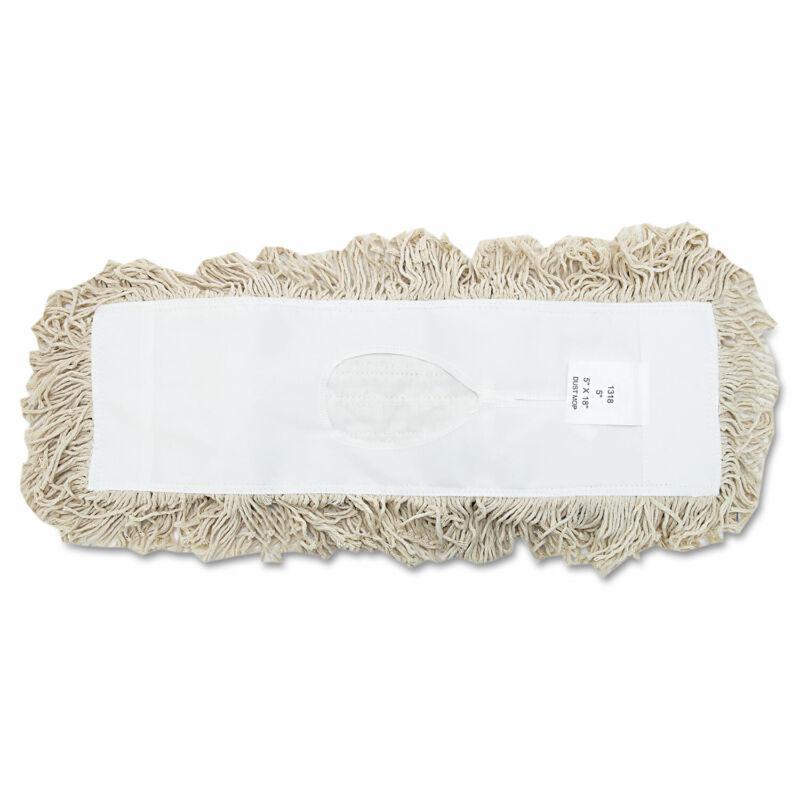Boardwalk Industrial Dust Mop Head Hygrade Cotton 18w x 5d White 1318