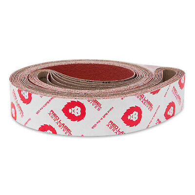 2 X 72 Inch 36 Grit Edgecore Ceramic Grinding Sanding Belts 6 Pack