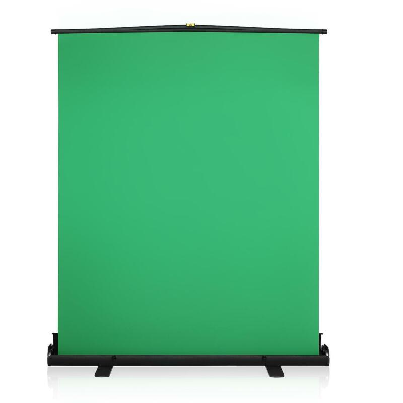 Pro Green Screen Backdrop Collapsible Chromakey Panel with Auto-Locking Frame