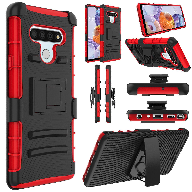 For LG Stylo 6 Stylus Slide Case Cover Belt Clip Shockproof Hard Phone Holster Cases, Covers & Skins