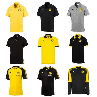 Puma BVB Borussia Dortmund Herren Kinder Polo Shirt Sweatshirt Trainingsshirt Fußball Sweatshirt