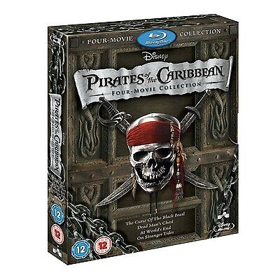 Pirates Of The Caribbean 1   4 Movie Collection Blu Ray Complete Box Set 1 2 3 4
