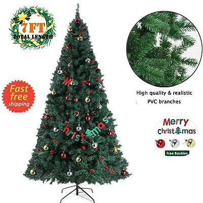 7 Feet Tall Christmas Tree W/Stand Holiday Season Indoor Outdoor Green ()