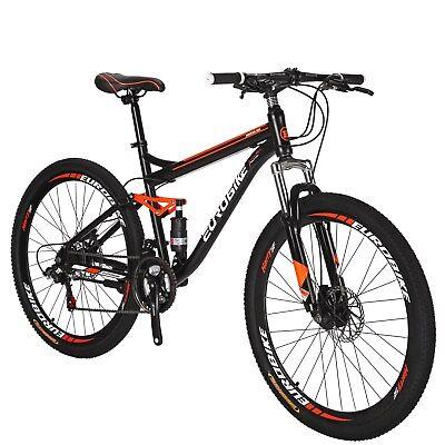 """27.5"""" Full Suspension Mountain Bike Shimano 21 Speed  Disc Brakes MTB Bicycle"""