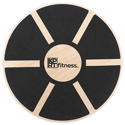 XPRT Fitness Balance Board Wooden Wobble Fitness Stability Training Board