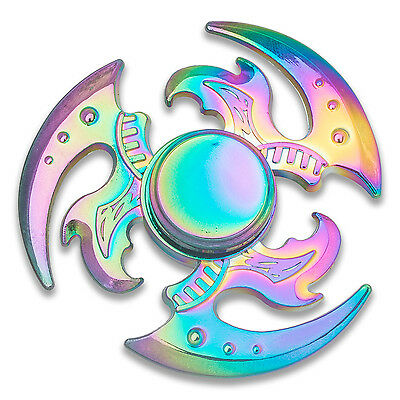 Ninja Rainbow Dragon Star Fidget Spinner - Metal Anxiety Relief Hand Finger Toy