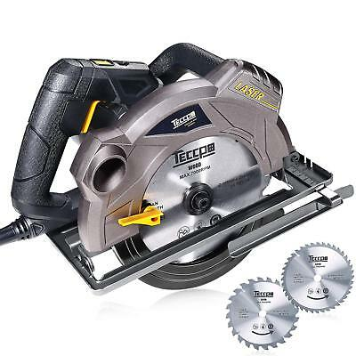 "- Circular Saw, TECCPO 7-1/4"" 5500 RPM Saw with Laser Guide, 24T&40T Circular Saw"