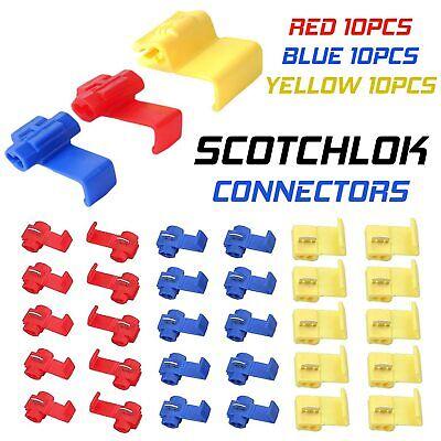 Scotch Lock Wire Connectors Quick Splice Scotchlok Electrical Cable Joints