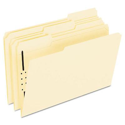 Pendaflex Fastener Folders 1 Fasteners 1/3 Cut Tabs Legal Manila 50/Box FM310 Manila Folders 1 Fastener