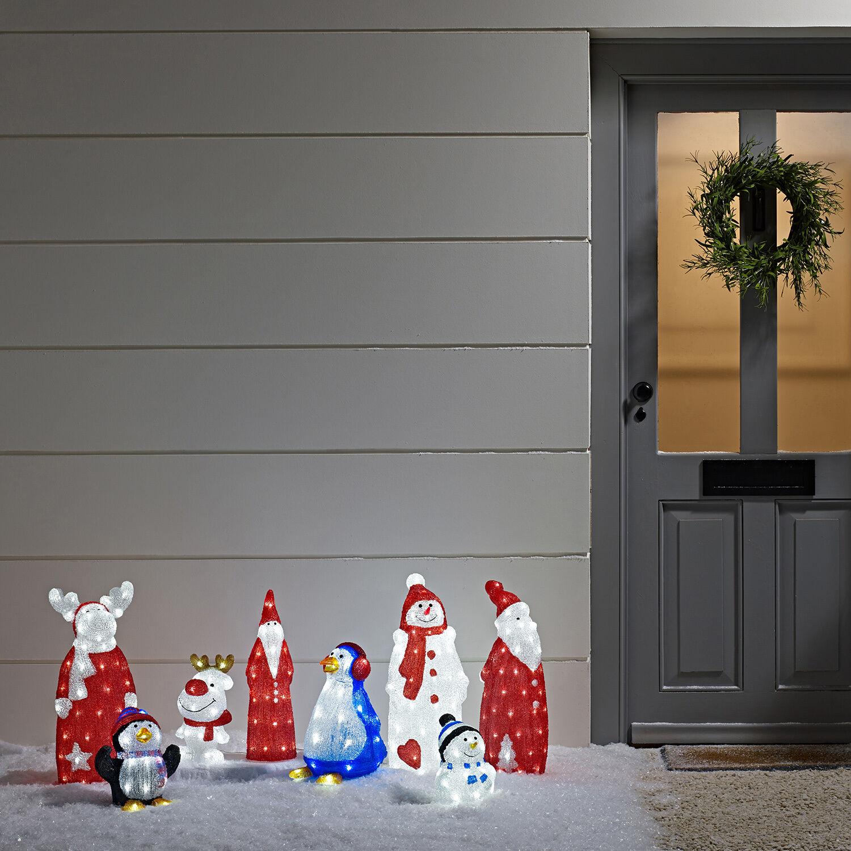 led acryl figur rentier led deko elch figur weihnachten 30cm lights4fun eur 49 99 picclick de. Black Bedroom Furniture Sets. Home Design Ideas