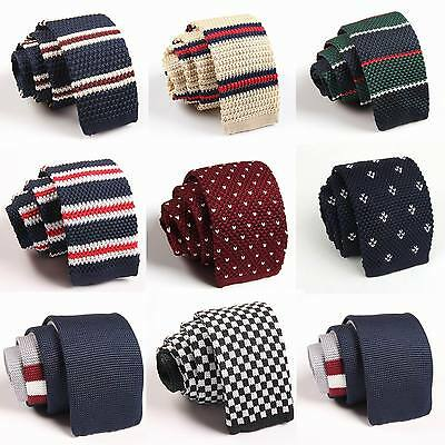 NEW Men's Fashion Colourful Knit Knitted Tie Necktie Narrow Slim Skinny Woven