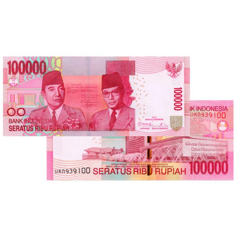 100,000 Indonesian Rupiah Banknote IDR