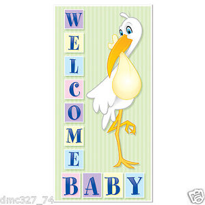 1 baby shower party decoration boy or girl welcome baby for Welcome home decorations for baby
