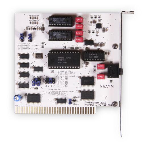 SAAYM 8-bit ISA dual Phillips SAA1099 + Yamaha YM2151 Sound Card - by TexElec