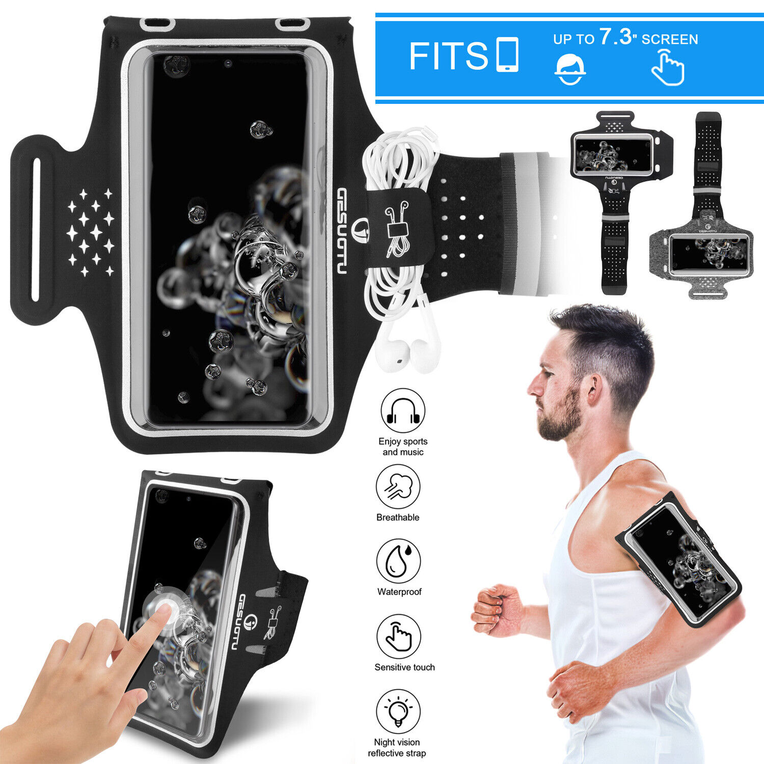 sports armband phone holder arm band touch