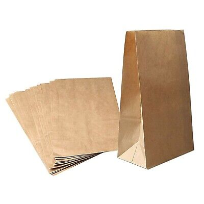 nuoshen 50 Pcs Kraft Brown Paper Bags, Paper Lunch Bags Paper Carrier Bags Fo...