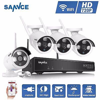 4 KANAL WLAN IP Überwachungskamera HD Komplettset NVR + 4  Videoüberwachung FUNK