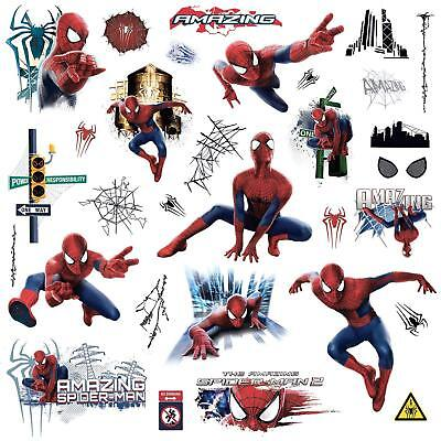 Marvel Superheroes Avengers Wall Decal Amazing Spider-man peel and stick - Spiderman Wall Decal