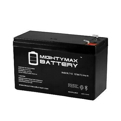 Mighty Max ML7-12 - 12V 7.2AH VERIZON FIOS REPLACEMENT BATTERY for sale  USA