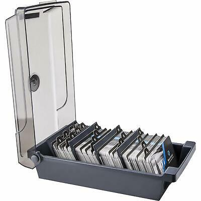 Business Card Holder Box File Storage Index Organizer Rolodex, 500 Cards, Size 4