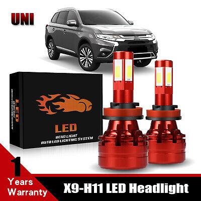 4-Side H11 13200LM LED Headlight Bulb For 2011-2019 MITSUBISHI