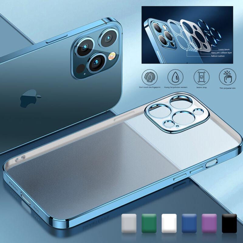 For iPhone 13 Pro Max 12 11 XS XR 78 Clear Matte TPU Ultra Slim Phone Case Cover