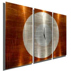 Endless Time By Jon Allen Modern Abstract  Metal Wall Art Sculpture Clock