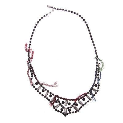 JOOMI LIM Split Personality Necklace - Black & White w/ Thread