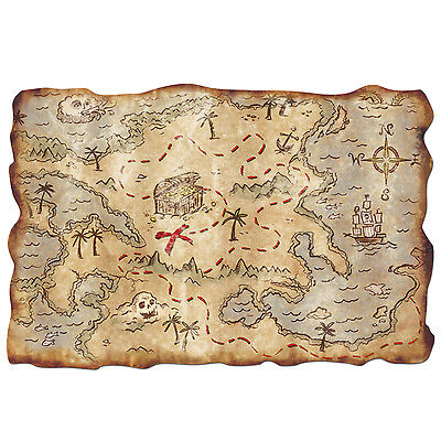 Plastic Treasure Map Halloween Pirates Party Decoration](Map Halloween)