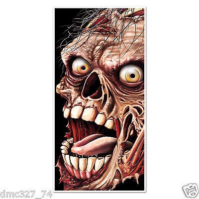 HALLOWEEN or Walking Dead Party ZOMBIE Face Wall DOOR COVER Decoration - Halloween Walking Dead