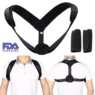 Posture Corrector Support Back Shoulder Brace Belt For Men Women Kids Adults - Adult Mens