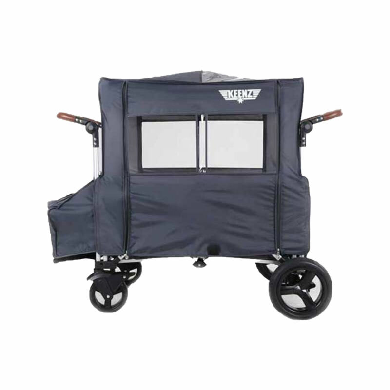 Keenz All Weather Wind Cover with Windows for 7S Push Pull Wagon Stroller, Gray
