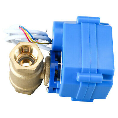 Motorized Ball Valve 12brass Electrical Ball Valve Port 3 Wire Setup Dc 9-24v