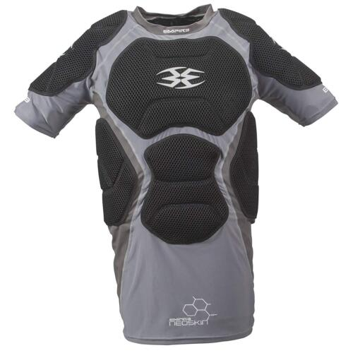 Empire Neoskin Paintball Padded Chest Protector - YOUTH NEW Black Grey