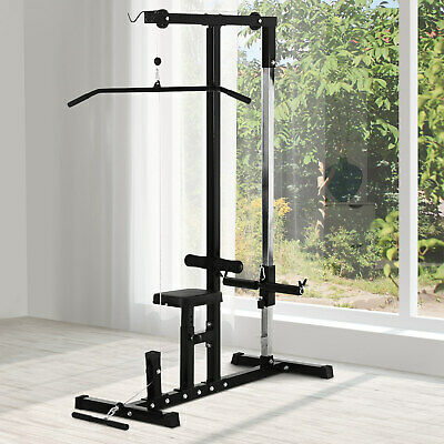 Strength Law Pulldown Workout Machine w/ 5-Position Smooth Cable Pulley System