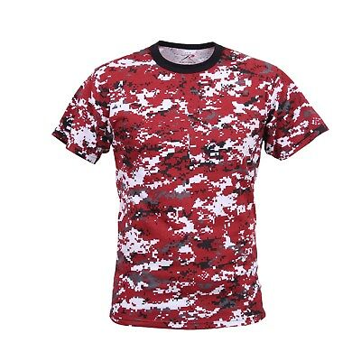 Red Digital Camo Military Digital Camouflage T-Shirt 5434 Rothco  ()