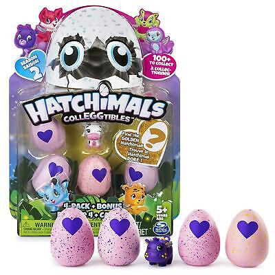 Hatchimals CollEGGtibles Season 2-  4 Pack and Bonus By Spin Master New