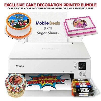 Canon Birthday Cake Image Printer  & Cake Ink Cartridges + S